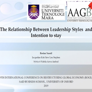 The Relationship Between Leadership Styles and Intention to stay