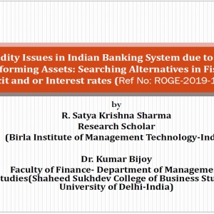 Liquidity Issues in Indian Banking System due to Non-Performing Assets: Searching Alternatives in Fiscal Deficit and or Interest rates