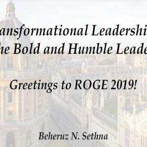 Transformational Leadership: The Bold and Humble Leader