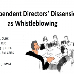 Independent Directors' Dissension as Whistleblowing