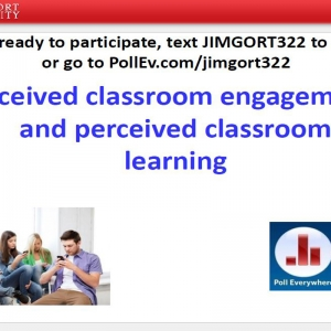 Perceived classroom engagement and perceived classroom learning