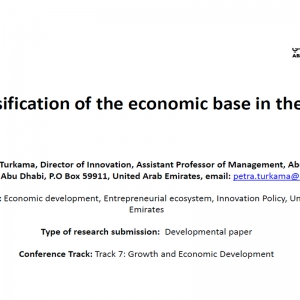 Diversification of the economic base in the UAE