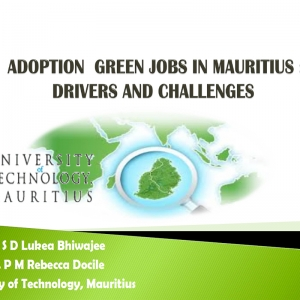 Adoption green jobs in mauritius drivers and challenges