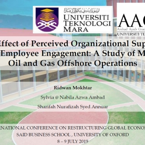 The Effect of Perceived Organizational Supports towards Employee Engagement: A Study of Malaysia's Oil and Gas Offshore Operations