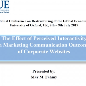 The Effect of Perceived Interactivity on Marketing Communication Outcomes of Corporate Websites