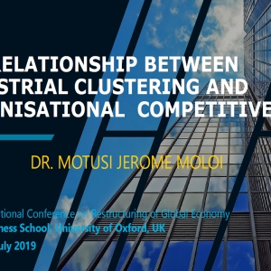 THE RELATIONSHIP BETWEEN INDUSTRIAL CLUSTERING AND ORGANISATIONAL COMPETITIVENESS